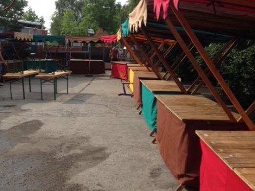 Prodejní stánek, skládací dřevěný 2x2m
